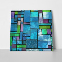 Multicolored stained glass window 102286066 a