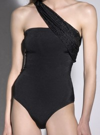 MiRoLovesSugarfree EMBELLISHED ONE SHOULDER ONEPIECE SWIMSUIT