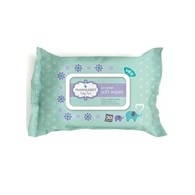 PHARMASEPT - Baby Care Tol Velvet Soft Wipes - 30wipes