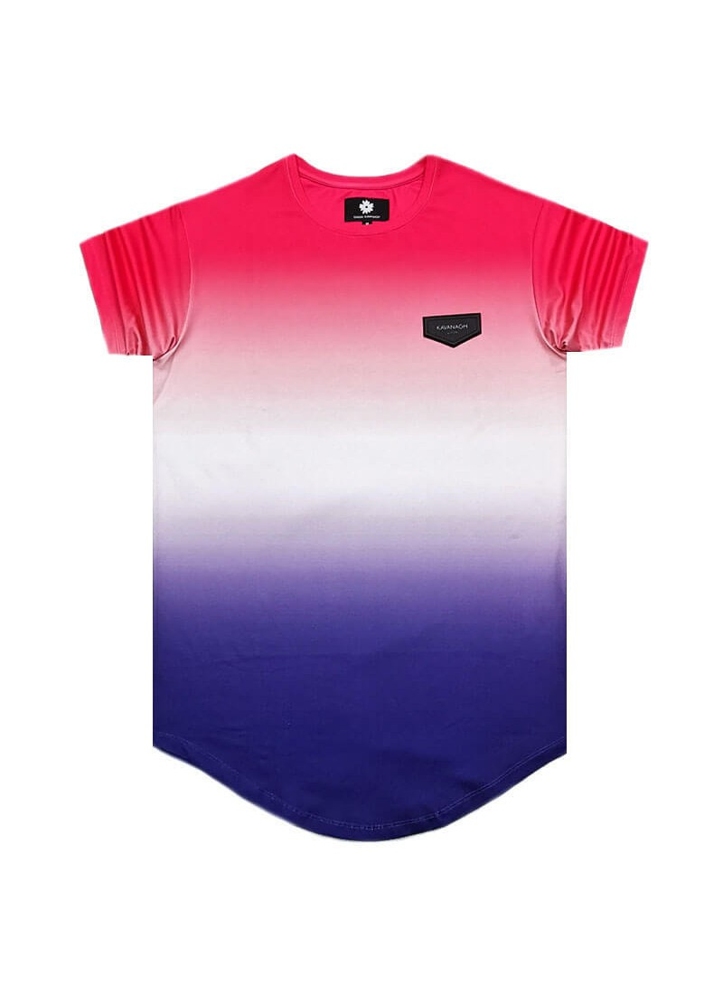 Gianni Kavanagh Trio Degradé Tee In Pink And Blue