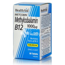 Health Aid Methylcobalamin B12 1000mg υπογλώσσιο, 60tabs