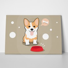 Cute corgi dog hungry 620362673 a