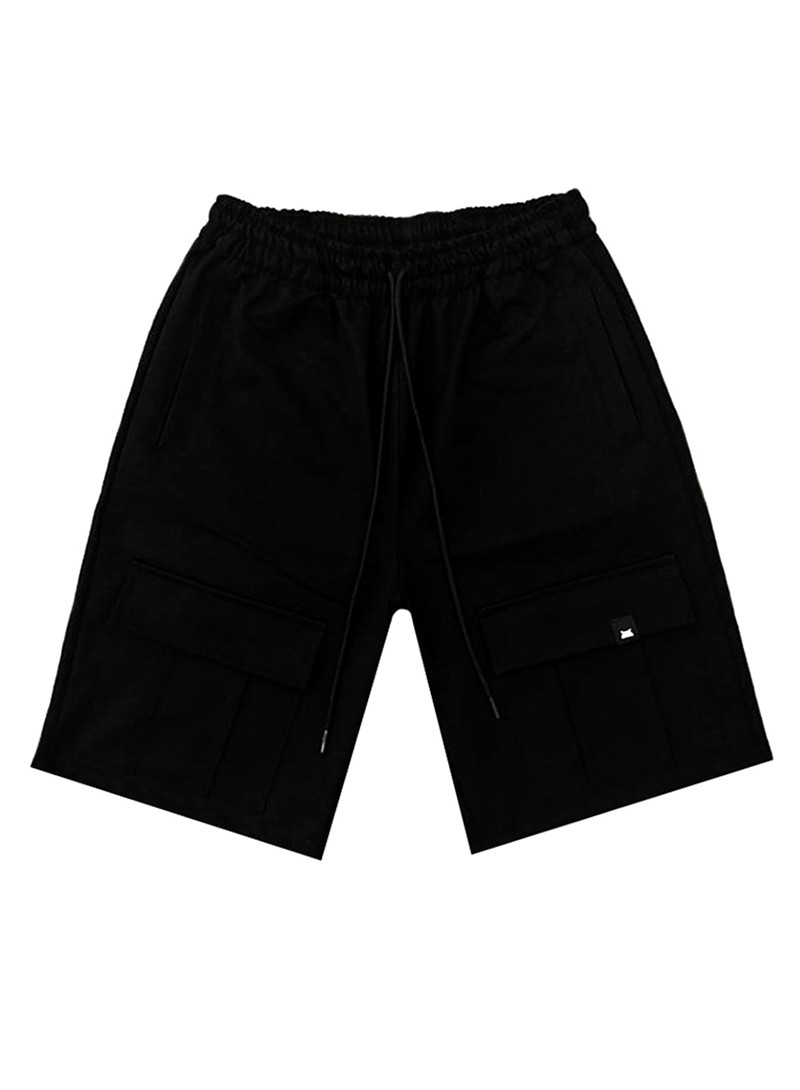 OWL CLOTHES CARGO SHORTS BLACK