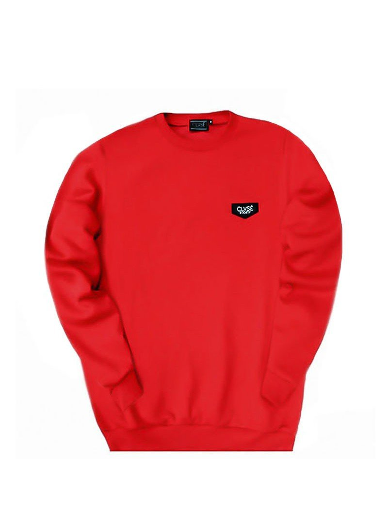 CLVSE SOCIETY RED PATCH SWEATSHIRT