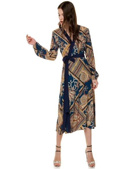 Wrap printed dress