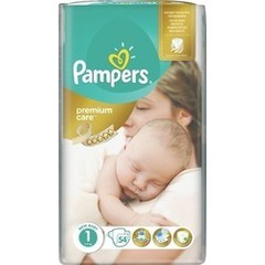 Pampers Premium Care No 1 (2-5Kg) 54 τμχ