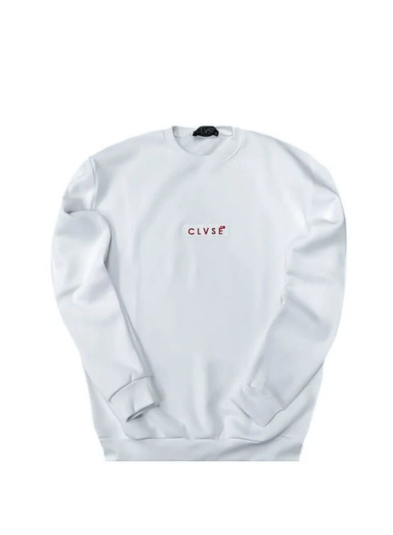 CLVSE SOCIETY WHITE EMBROIDERED SWEATSHIRT
