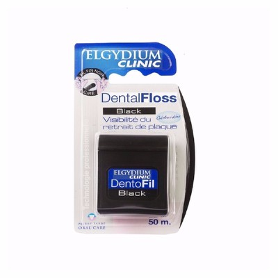 ELGYDIUM - DENTAL FLOSS Black Chlorhexidine - 50m