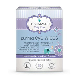 PHARMASEPT Baby purified eye wipes10 τμχ