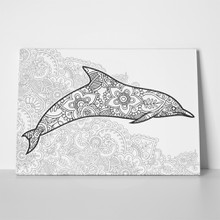 Dolphin floral pattern 1036862491 a