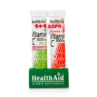 HEALTH AID - PROMO PACK 1+1 Vitamin C 1000mg plus Echinacea (20eff.tabs) ΜΕ ΔΩΡΟ Vitamin C 1000mg (20eff.tabs)