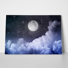 Cloudy night sky 129023969 a