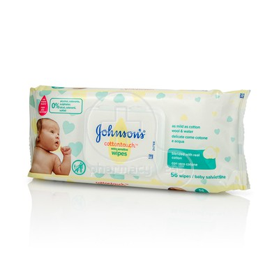 JOHNSON & JOHNSON - CottonTouch Extra Sensitive Μωρομάντηλα - 56τεμ.