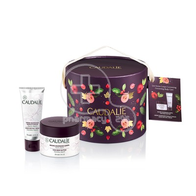 CAUDALIE - PROMO PACK COCOONING BODY CARE Baume Gourmand Corps (225ml) & Crème Gourmande Mains & Ongles (75ml)