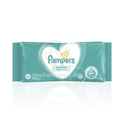 PAMPERS - SENSITIVE Μωρομάντηλα (travel size) - 12τεμ.