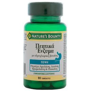 Natures boundy peptika enzima 90caps