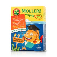 MOLLER'S - Omega-3 - 36 fish jellies πορτοκάλι-λεμόνι