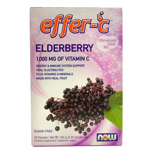 Now foods effer c  elderberry packets