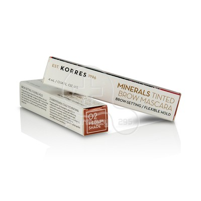 KORRES - MINERALS TINTED Brow Mascara 02 Medium Shade