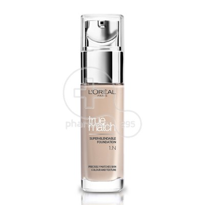L'OREAL PARIS - TRUE MATCH Super Blendable Foundation No1N (Ivory) - 30ml