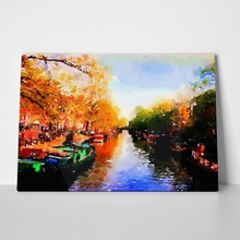 Amsterdam canals watercolor 1048130290 a