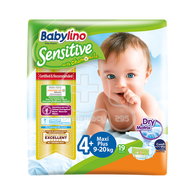 BABYLINO - Babylino Sensitive Maxi Plus No4+ (9-20 Kg) - 19 πάνες