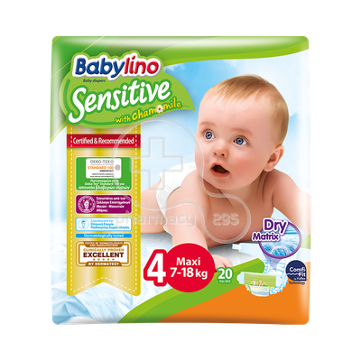 BABYLINO - Babylino Sensitive Maxi No4 (7-18 Kg) - 20 πάνες