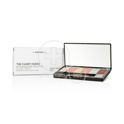 KORRES - VOLCANIC MINERALS The Candy Nudes Eye Shadow Palette - 6gr