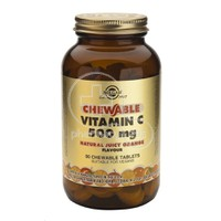 SOLGAR - Chewable Vitamin C 500mg (Orange flavor) - 90chew.tabs