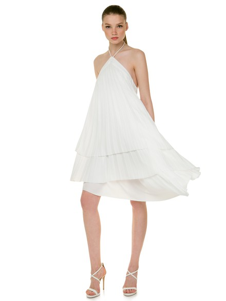 Heritage: Asymmetrical pleated dress