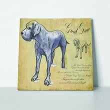 Great dane dog hand drawn 244634830 a