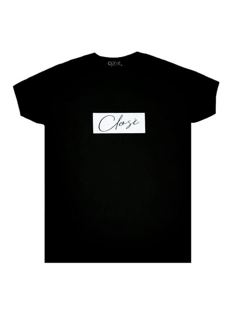 CLVSE SOCIETY BLACK T-SHIRT 501 WITH WHITE SQUARE