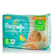 Pampers No.4 (8-14 kg) - Active Baby Dry, 42τμχ