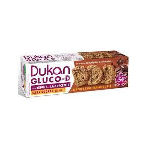 Dukan expert gluco d oatmeal biscuits with chocolate chips  100gr