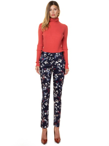 Floral office style pants