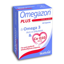 Health Aid Omegazon Plus (Omega 3 & Co Q10) 60caps