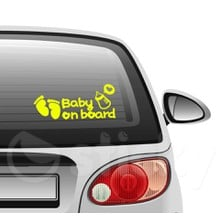 Baby on board 11 on car