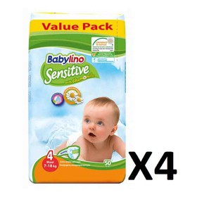 BABYLINO SENSITIVE MAXI N4 7-18kg 200 (=4x50) ΤΕΜΑΧΙΑ