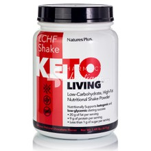 Natures Plus Keto Living LCHF Shake (Low Carbohydrate High Fat) - Chocolate, 578 gr