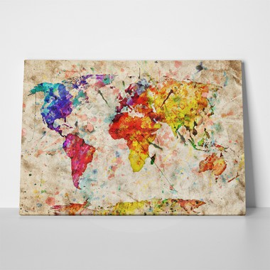 Watercolor map a