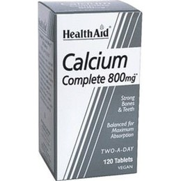 Health Aid CALCIUM complete balanced, 120 ταμπλέτες
