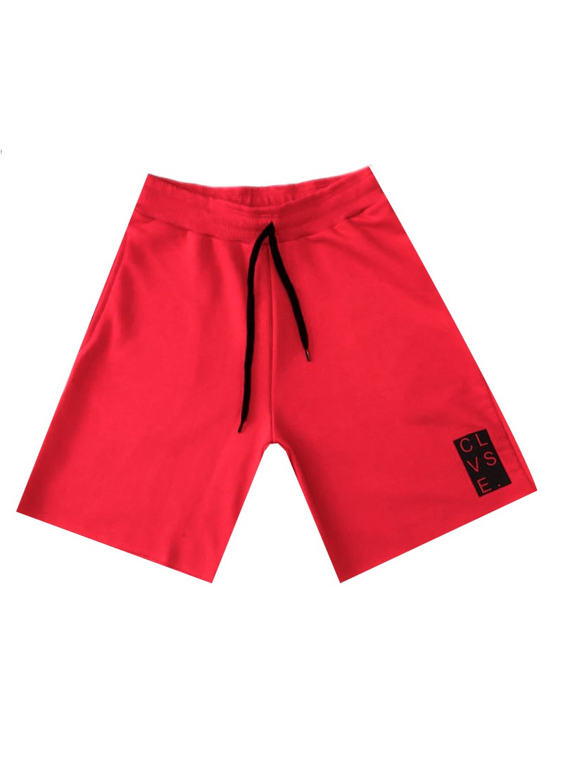 CLVSE SOCIETY RED LOGO SHORTS