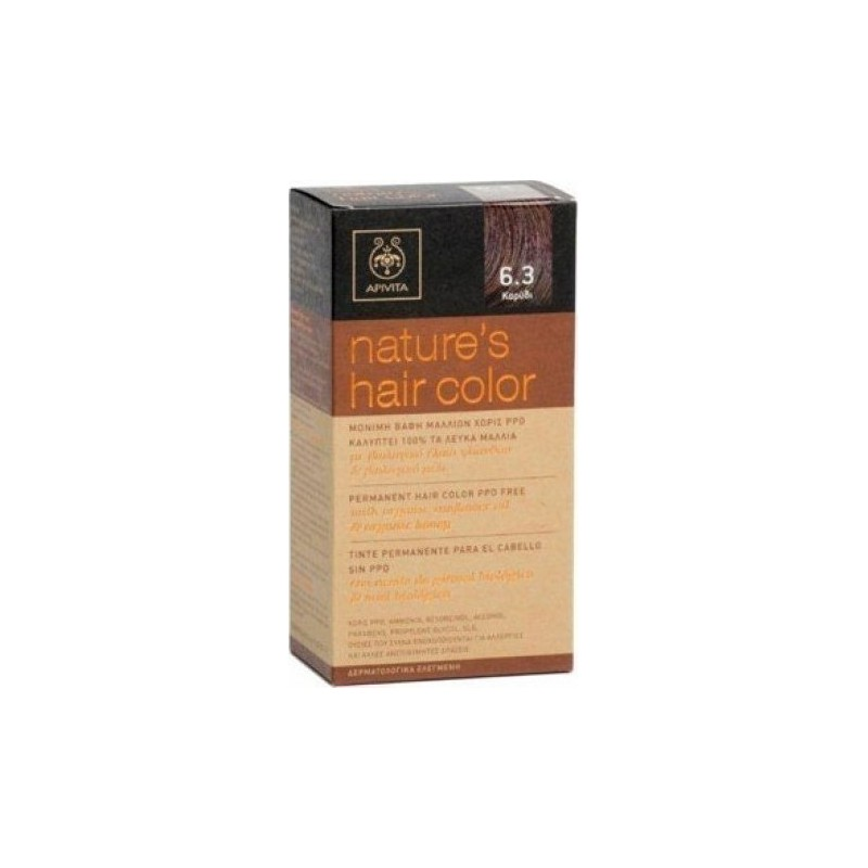 Apivita Permanent Hair Color Ppd Free 63 Walnut