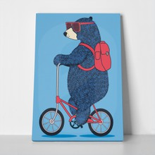 Bear bicycle hipster hand drawn 639260092 a
