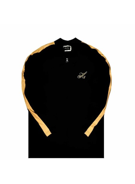 HENRY CLOTHING LOGO BLACK/GOLD HOODIE JACKET