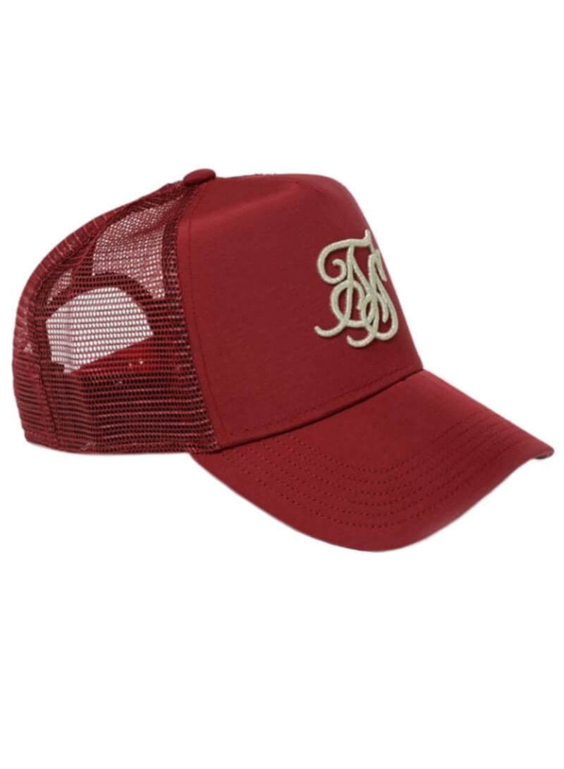 SikSilk Bent Peak Trucker - Ruby