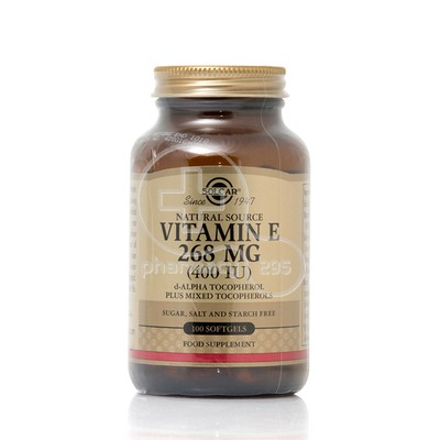 SOLGAR - Vitamin E 268mg (400IU) - 100softgels