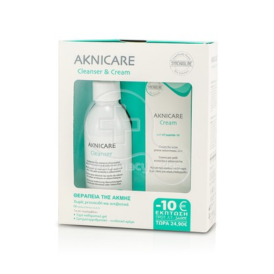 SYNCHROLINE - PROMO PACK AKNICARE Cream (50ml) & Cleanser (200ml) ΣΕ ΚΑΛΥΤΕΡΗ ΤΙΜΗ
