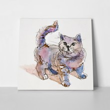 Cute kitten watercolor 213856030 a