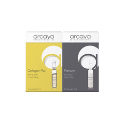 Arcaya Πακέτο Προσφοράς Collagen Plus Push-Up Effekt Contour Lifting  5 Αμπούλες x 2ml + Platinum Age Repair Youth Code 5 Αμπούλες x 2ml